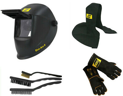 ESAB Welding Helmet, Gloves, Proban Hood, 3 x Wire Brush Set, Welder Starter Kit