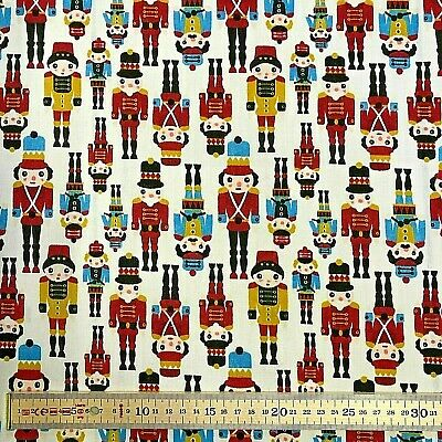 Little Christmas Soldiers PolyCotton Fabric Per Metre 114cm Wide