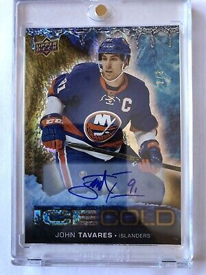 2017-18 UD Ice cold Gold Overtime Hockey John Tavares Autograph 2/3