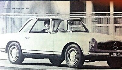 MERCEDES BENZ 230SL - 1965 - Road Test removed from MOTOR