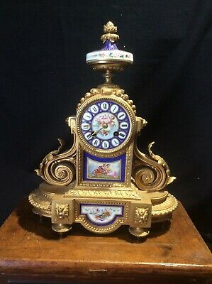 Antique French Mantel Clock P.H. Mourey Case and S Marti Clock