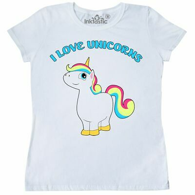 52ad6902d Inktastic I Love Unicorns Women's T-Shirt Unicorn Magic Cute Pony Friendship