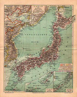 Antique map. JAPAN & KOREA.  1895