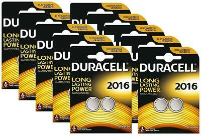 10 x Duracell CR2016 3V Lithium Coin Cell Battery 2016, DL2016, BR2016, SB-T11
