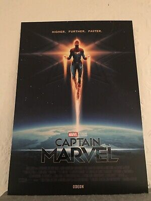 Captain Marvel Odeon Exclusive A4 Poster Free Postage