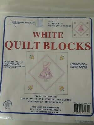Jack Dempsey Needle Art Item # 732 Pattern #23 SUNBONNET SUE Quilt Blocks
