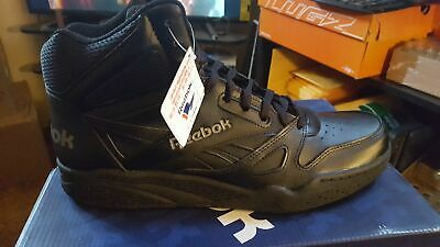 76374b03ea01 MENS REEBOK CLASSIC LEATHER MID TWD BS6363 Black Excellent Red ...