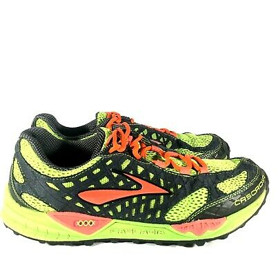 483a3d4be99 Brooks Cascadia 7 Trail Mesh Men s Size 11 Green Orange Black Training  Shoe- VGC
