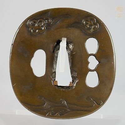 Momoyama Shinchu tsuba (waves and clouds)