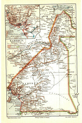 Antique map. AFRICA. CAMEROON. 1895