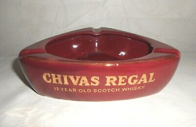 Vintage Chivas Regal 12 Year Old Scotch Whiskey Ashtray Tobacciana Barware - VGC