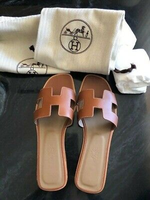 5f07dc769599 BRAND NEW HERMES Oran sandals Size 38   US 8   UK 4 -  590.00