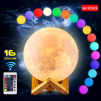 Dimmable 3D Magical Galaxy USB LED Moon Lamp Moonlight Touch Sensor Night Light