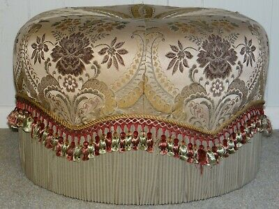 Fantastic Bombay Company Round Tufted Ottoman Pouf Foot Rest Vanity Machost Co Dining Chair Design Ideas Machostcouk