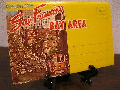 Vintage 1950's Fold-Out Postcard View Book California San Francisco Bay Area