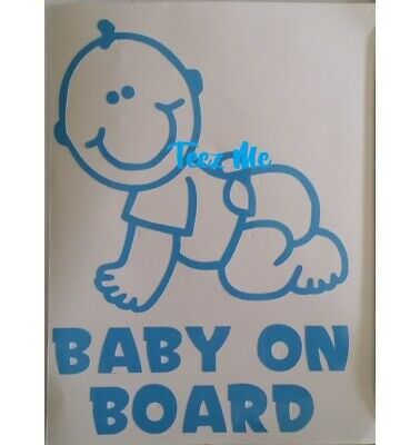 BABY ON BOARD, GIRL or BOY, Vinyl Decal Sticker LGE