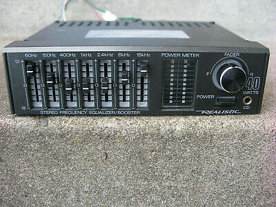 VINTAGE REALISTIC 7 Band GRAPHIC EQUALIZER / BOOSTER