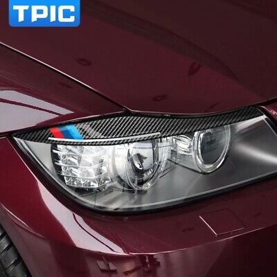 Car Stickers For BMW E90 Front Headlamp Eyebrows 3 series 2005-2012 accessories