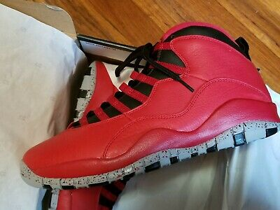 new arrival d204e 84bf1 NEW MEN S AIR JORDAN 10 RETRO 30TH BULLS OVER BROADWAY RED 705178 601 Size  10
