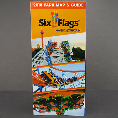 SIX FLAGS MAGIC Mountain Park Map & Guide 2018 Valencia CA ... on brasstown bald mountain map, crotched mountain map, great america map, schuss mountain map, knotts berry farm map, universal studios map, six flags map, knottsberry farm map, legoland map, steele peak shooting area map, cedar point map, boyne mountain map, dream catcher map, sunset strip map, robin hood map, disneyland map, knott's map, loon mountain map, mount snow map, new river state park map,