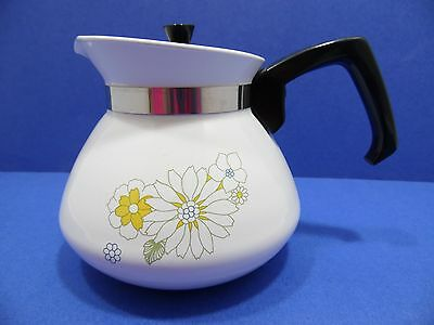 Corning Ware Floral Bouquet Carafe 6 Cup With Lid Made in USA Coffee Tea