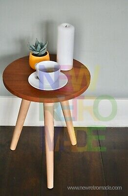 Wooden stool or solid wood side table, natural wooden coffee table