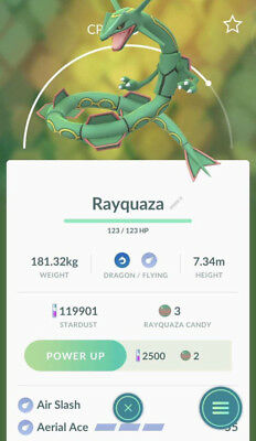 Pokemon Go Rayquaza Trade - Legendary - Raid Exclusive