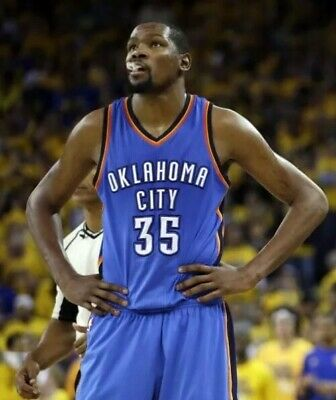 huge selection of acb4f 8c0ef NBA JERSEY OKLAHOMA Thunder Kevin Durant OKC Authentic Adidas Embroidered  SZ 52