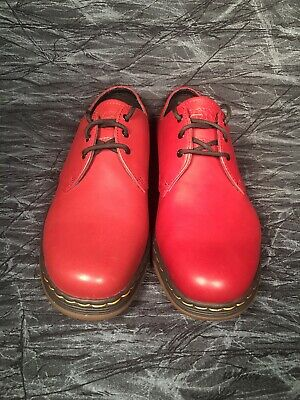 f1f2be24fe4 Dr.Martens Cavendish Lite Cherry Red Leather Lace Up Shoes Men Size 9    Women