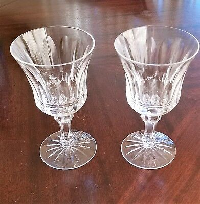 Lot of 2 - Waterford Innisfail Cut Crystal Water Goblets - 6 3/4""