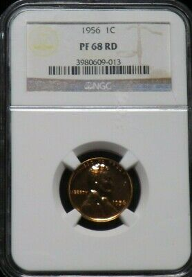 1956  Proof  Lincoln Cent Certified NGC PF 68 RD