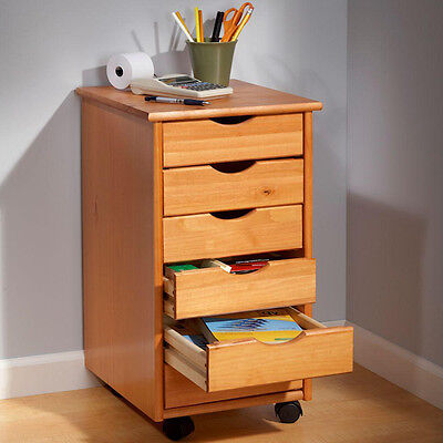 Rolling Cart Storage Drawers 6 Drawer Chest Kids Toys Bedroom Office Wood Mobile