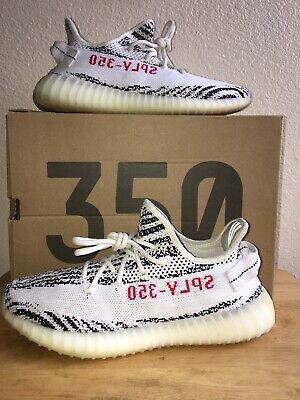 af9ea291c Men s Adidas Yeezy Boost 350 V2 Zebra Size 9 CP9654 Kanye West PreOwned  Whit Box