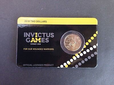 2018 Invictus Games $2 Two Dollar Limited Edition Presentation Carded Coin New!