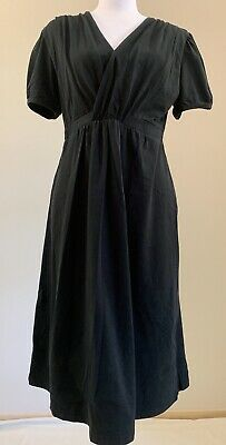 Milky Way Maternity Breastfeeding Dress Black Size L
