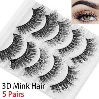 High Volume Eye Lashes Extension False Eyelashes 3D Mink Hair Natural Long