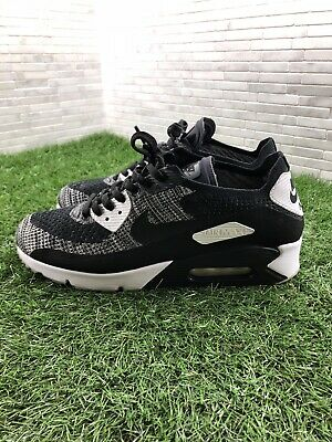 new arrival 53650 c7e8f NIKE AIR MAX 90 ULTRA 2.0 FLYKNIT BLACK WHITE OREO 875943-001 Mens Sz 10