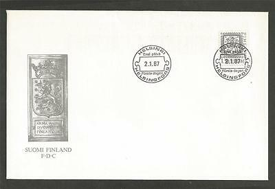 FINLAND - 1987 Lion    - FIRST DAY COVER.
