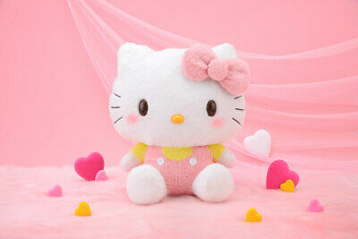 Hello Kitty Pink & Yellow Fluffy Colour Large Plush