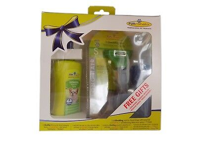 Pack Furminator for dogs hair long - Brush, spray and towel - Size S