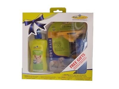 Pack Furminator for dogs hair short - Brush, spray and towel - Size L