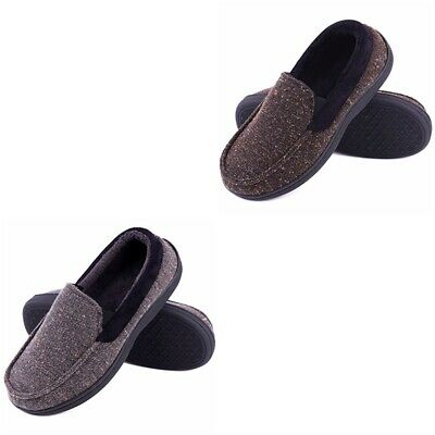 640f6df596aefe LongBay Men's Memory Foam Moccasin Slippers Plush Fleece House Shoes Size 8  - 13