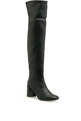NIB $349 COUNTRY ROAD Savannah Over The Knee LEATHER  BOOTS Italian 38-40 Tan Bl
