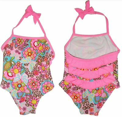 946ee3d8852b6 Size 0 - Baby Girls Pink Floral 1 pc Swimsuit - halter neck style Swimwear