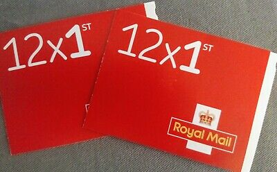 Royal Mail Stamps: 2 x 12 Books of First Class Stamps *new*