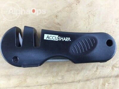 New Accusharp Sharpener 4 in 1 Knife and Tool Fishing Camping Hunting Black