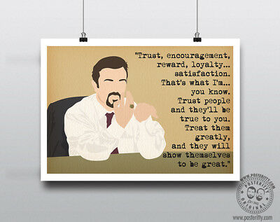 DAVID BRENT (Trust, Reward) Minimal Poster Art Posteritty Office Quote Gervais