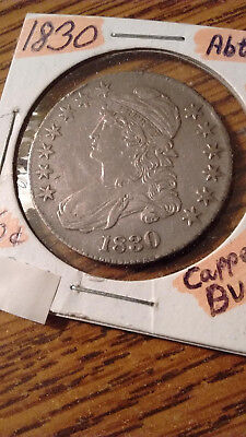 1830 'large 0' Capped Bust Half Dollar Original Luster Choice Xf