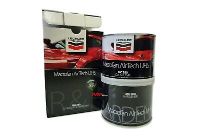 Trasparente Rapido LECHLER MA380 Macrofan Airtech UHS Clearcoat Kit Catalisi 1:1