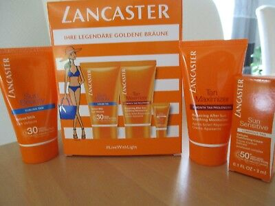 Lancaster Sonnenpflege Set, Sonnenmilch, After Sun, Sun Sensitive SPF 50 NEU OVP